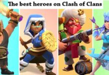clash of clans heroes